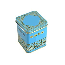 Premium Version Blue with Stronger Flavor Sunflower Jasmine Tea 1LB (454 g) 85 Sunflower Jasmine tea in yellow tin has been a classic favortite for years. Now there is a more premium version of this tea! It comes in a blue tin and has