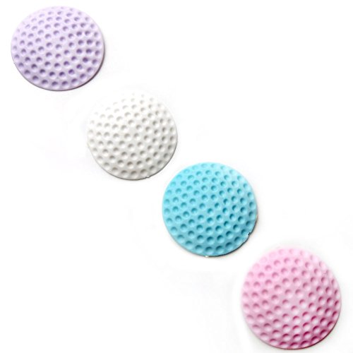 In+ Deco Door Knob Mute Silencer Decorative Golf Cushion Rubber Wall Sticker (Colorful) ()