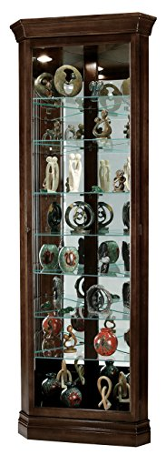 Cabinet Shelf Corner Curio Eight (Howard Miller Dustin Espresso Curio Cabinet)