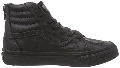 Salut Camionnettes zip Sk8 Chaussures Sport Noir De m Cuir Unisexe Enfants Haut th gwF65xwqp