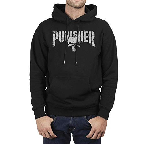 Wardell Cotton Men's The-Punisher-Logo-Skull- Hoodie Soft Pullover Sweatshirt