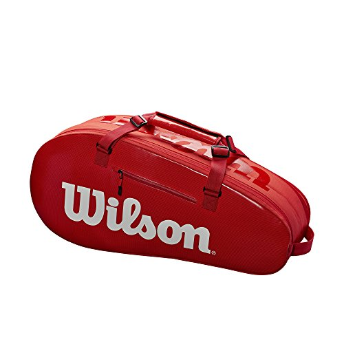 Wilson Sporting Goods Super Tour 2 Small Compartment Tennis Bag, Red/White