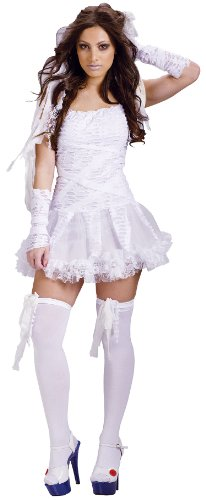 Bride Monster Costumes Womens Sexy (Fun World Sexy Womens Mummy Monster Bride Halloween Costume)