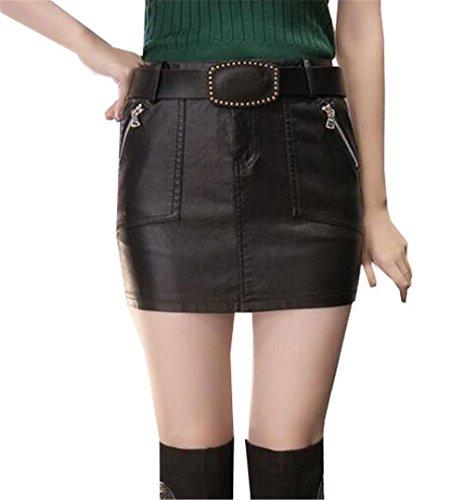 Mini Gonna Bodycon Corta Moda Black3 Gonne Sintetica Skirt Donna Pelle Femminili Aoliait Personalizzate Glamour qS46pE