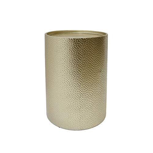 Christopher Knight Home 308947 Rache Modern Round Accent Table with Hammered Iron, Gold