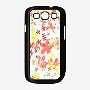 Brush Flowers Plastic Phone Case Back Cover Samsung Galaxy S3 I9300