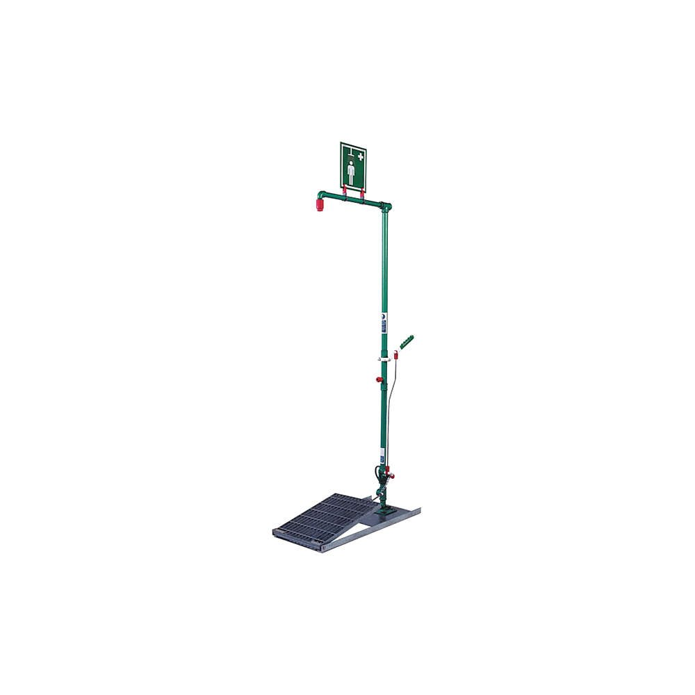 Hughes Safety Showers - EXP-SD-20G - Emergency Shower, Floor Mount, Plastic, 2-3/4 x 2 Head Dia.