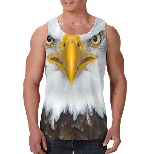 Rhbjopa American Bald Eagle Mens Boy Round Neck Vest Premium Tank Top Black