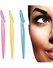 Eyebrow Trimmers – Face & Eyebrow Hair Removal Razors Trimmer Shaper Shaver Cosmetics (Pack of 3)
