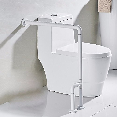 HQLCX Handrail Barrier Free Hand Toilet Toilet Toilet Seat On Nylon Armrest,White by HQLCX-Handrail