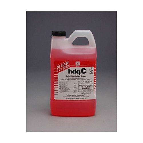 Spartan Clean on The Go 2 HDQ C Neutral Disinfectant, 2 Liter Bottle, 4 Bottles Per Case by SPARTAN