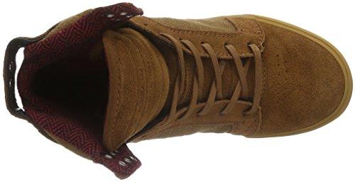 Supra 08174-650-M - Zapatillas altas para hombre Marrón (Brown/Red - Gum 239)