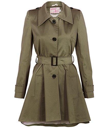 KRISP Mujer Gabardina Abrigo Chaqueta Clásico  Amazon.es  Ropa y accesorios fa0aab5f3cd6