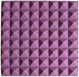 カラー音響パネル、20PCSスクエア高密度メトープホームデコレーションレコーディングスタジオ吸音綿 (Color : Purple)