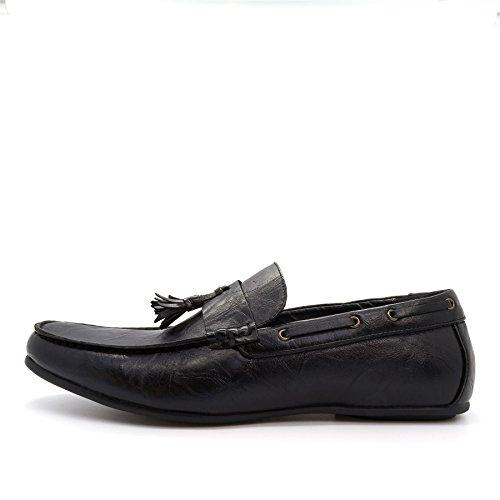 Footwear mit Schwarz Durchgängies Herren Sandalen Keilabsatz Plateau London 8d7wHnqw