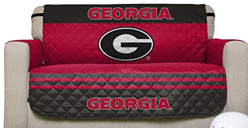 NCAA Georgia Bulldogs Love Seat Reversible Furniture Protector with Elastic Straps, 75-inches by 88-inches (Georgia Bulldogs Recliner compare prices)