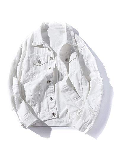 Gira Manicotto Camice Lunghi Jeans Vestiti Da Bianco Giacca Di Moda I Monopetto Uomo Comodo Outerwear Hx Giù Formati Strappato gq7YxA
