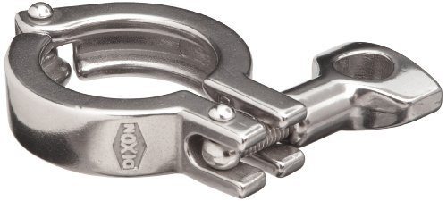 Dixon 13MHHM100-150 Stainless Steel 304 Single Pin Heavy Duty Clamp with Cross Hole Wing Nut, 1