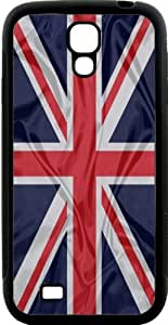 Rikki KnightTM Great Britain Flag Design Samsung? Galaxy S4 Case Cover (Black Hard Rubber TPU with Bumper Protection) for Samsung Galaxy S4 i9500