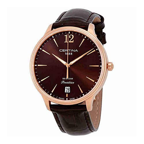 Certina DS Dream Precidrive Brown Dial Ladies Quartz Watch C021.810.36.297.00