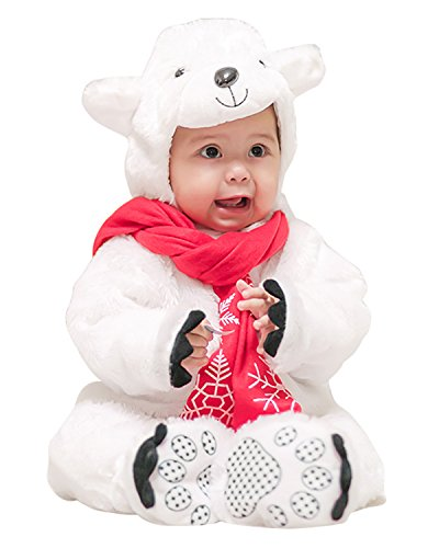 Kidsform Unisex-Baby Halloween Cosplay Animal Costume Romper Onesise Bodysuits Outfits Suit Bear 18-24 Months