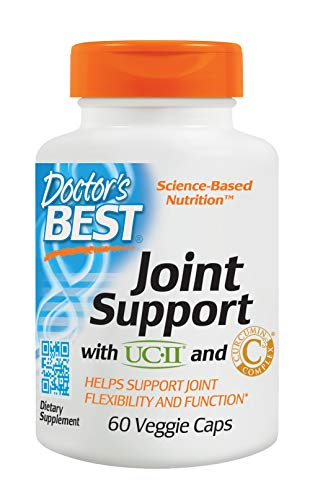(Doctor's Best Joint Support with UCII and Curcumin C3 Complex, Non-GMO, Gluten Free, Soy Free, 60 Veggie Caps)