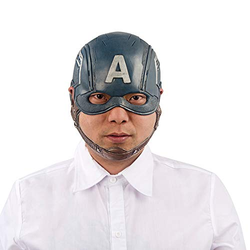 Masks Halloween Christmas Captain America Captain America Captain Perimeter Shield Helmet Hat Dress Up & Pretend Play (Color : Blue, Size : -