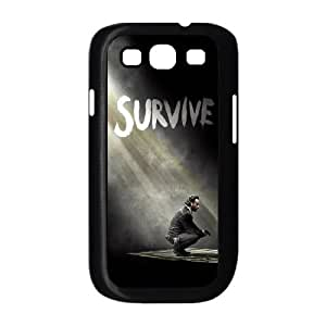 Durable Hard cover Customized TPU case The Walking Dead Season 5 Survive Rick Samsung Galaxy S3 9300 Cell Phone Case Black