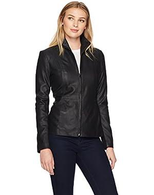 Women's Scuba Leather Jacket