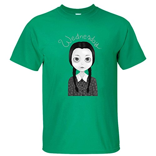 XTOTO Men's Wednesday Addams Cool T-shirts green M