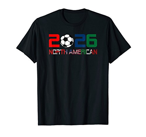 North America 2026 Football Cup T-Shirt Canada USA Mexico