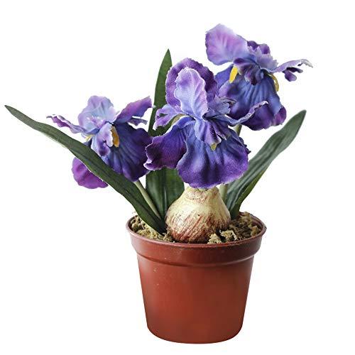 Riverbyland Artificial Iris Flower Plants Decorations Purple