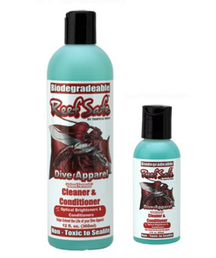 Reef Safe Non-Toxic Wetsuit Cleaner Available in 2OZ or 12 OZ Bottles (12 - Wetsuit Cleaner