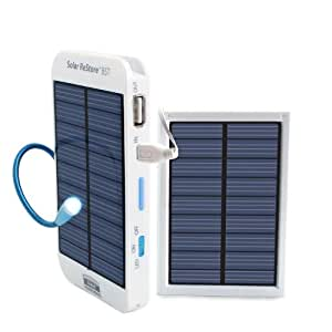 ReVIVE Solar ReStore BST Ultra Slim Portable External USB Backup Battery Pack w/ Rapid Charge Solar Panel for Cell Phones, Action Cameras, Pocket Camcorders & More USB Powered Devices