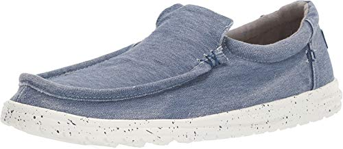 Hey Dude Men's Mikka Washed Stretch - Indigo Loafers
