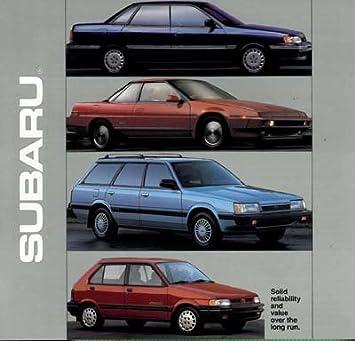 1990 Subaru Line Sales Brochure - XT XT6 Loyale RS Turbo
