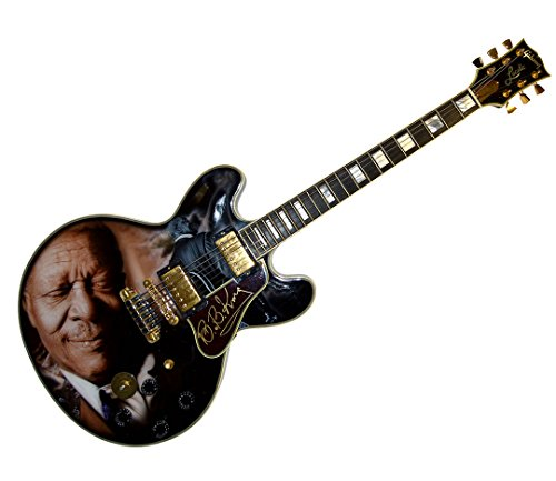 - B.B. King Autographed Gibson Lucille Best Airbrush Guitar PSA LOA AFTAL