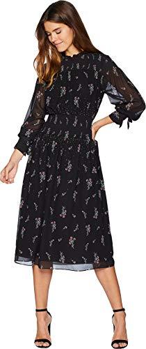 Juicy Couture Black Label Womens Floral Print Chiffon Midi Dress Black XL -