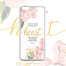 Bible Verses Quotes Proverbs 3:5 Christian Inspirational Pink Floral Trust in The Lord With All Your Heart Bumper Soft Rubber iPhone 5s SE Case