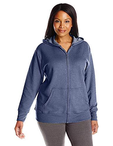 My Pocket Just Size 5 (JMS ComfortSoft EcoSmart Fleece Full-Zip Women's Hoodie)