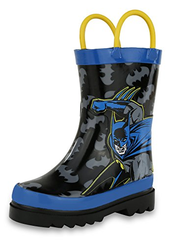 DC Comics Batman Boy's Rain Boots - Size 13 Little Kid by DC Comics