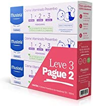 Kit Leve 3 Pague 2 Creme Vitaminado Preventivo de Assaduras 1> 2> 3 Mustela 300 ml, Mustela Bebê, Roxo,