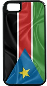 Lmf DIY phone caseRikki KnightTM South Sudan Flag Black Tough-It Case Cover for iPhone5 & 5s (Double Layer case with Silicone Protection)Lmf DIY phone case
