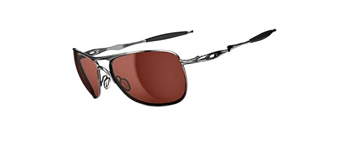 oakley crosshair polarised brown chrome sunglasses  oakley mens crosshair oo4060 02 iridium oval sunglasses,chrome frame/vr28 black iridium