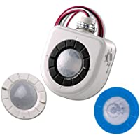 Leviton OSFHU-ITW Fixture-Mounted PIR High-Bay Sensor with 3 Interchangeable Lenses, White