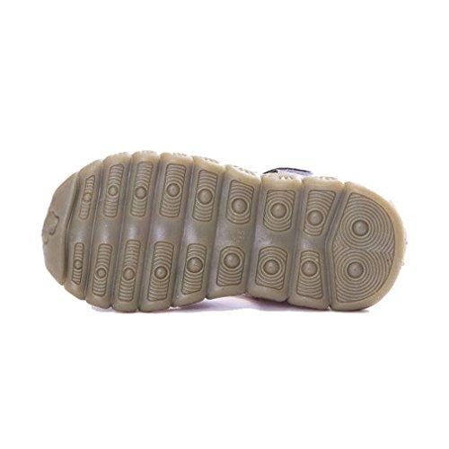 KVbaby Jungen Mädchen Geschlossene Sandalen Aus Weichem Leder Sandalen Kinder Outdoor biegsame Sohle Trekkingsandalen Lauflernschuhe Klettverschluss Gelb
