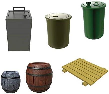 KILOKITS 18PCS 1//35 Plastic Military Fuel Drums Barrels Petrol Cans Pallet Unpainted Model Kits