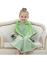 Children's Bathrobe, Cute Baby 100% Cotton Soft Hood with Cap, Increase Absorbent Towel