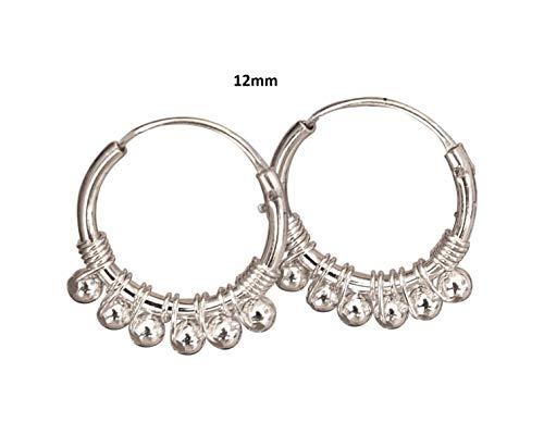 Sale! Pair of 12mm Sterling Silver Hoop Earrings, Handmade Hoop Earrings for Women, hoop earrings sterling silver, Sterling Silver Hoops