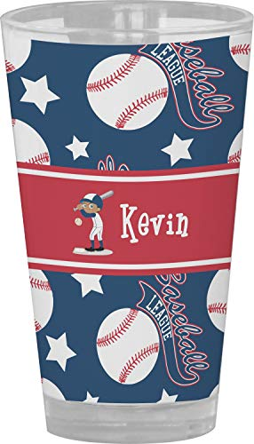 Baseball Drinking/Pint Glass (Personalized) from RNK Shops